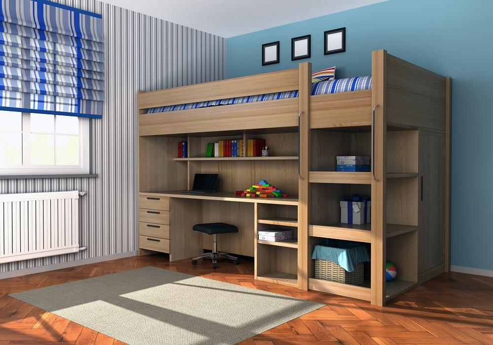 Umeblowany pokój dziecięcy